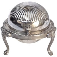 Antique Silverplate Lidded Butter Dish