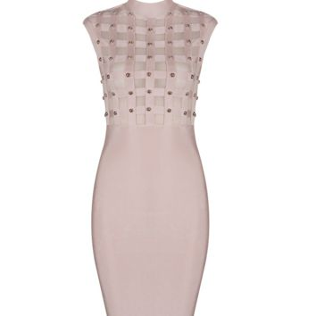 Caliena Studded Blush Dress