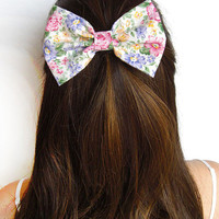 Flower Hair Bow Clip Fabric Bow Floral Bow Flower Bow Party Bow hair accessory bow princess bow for girls bows for teens fashion accessory