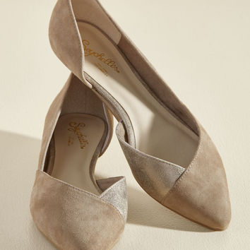 Seychelles Advantage Suede Wedge in Taupe | Mod Retro Vintage Flats | ModCloth.com