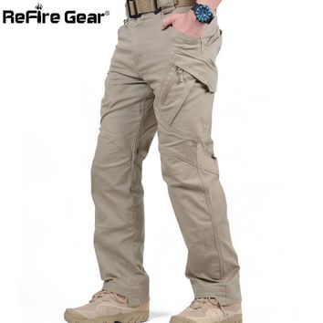 Cargo Pants Men Combat SWAT Army Military Pants Cotton Pockets Stretch Paintball Militar Casual Trousers XXXL