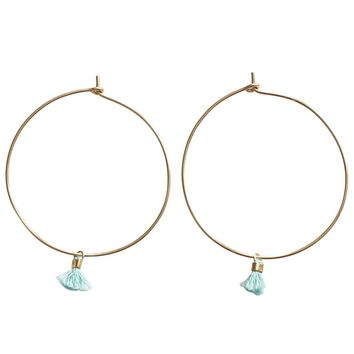 a.wattz dezigns Tassel Hoop Earrings