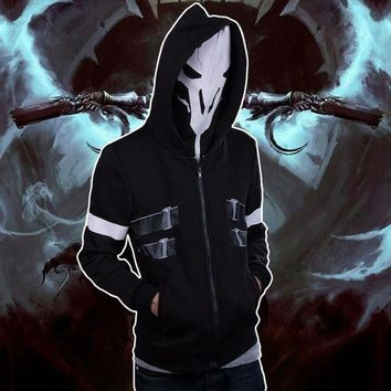 DCCKH6B OW Reaper Two-piece Coat Spring Hoodie Cosplay Costume Free Shipping