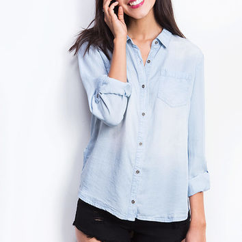 Sunday+Chambray+Top