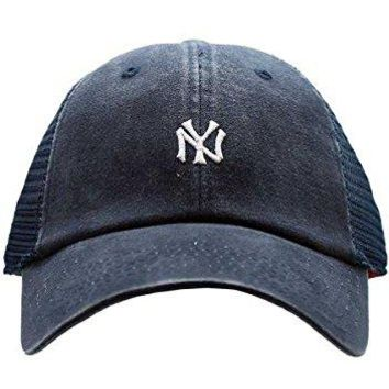 American Needle New York Yankees Raglan Bone Micro Hat, Navy