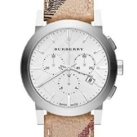 Burberry BU 9360 Leather Women's Chronograph Watch - 			        	Father's Day Gifts