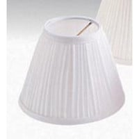 "Darice - Pleated Cloth Covered Lamp Shade - White 2-1/2""X4""X5"""
