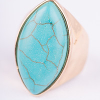 Marquise Turquoise Stretch Ring