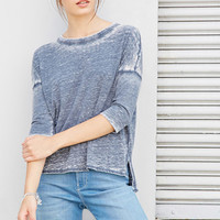 Burnout Knit Boxy Top