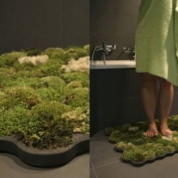 Live Bath Mat Dries Feet And Grows