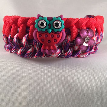 Allison the Owl - Children Paracord Heaven Survival Bracelet with Knot Closure