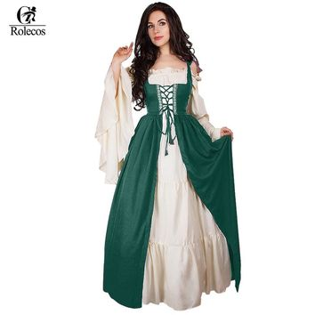 Woman'Renaissance Victorian Medieval Gothic Dresses  Halloween Gowns Costumes Gothic Evening Dresses