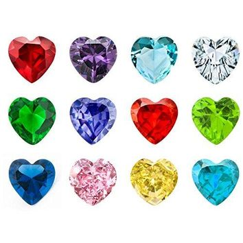 CharmSStory 12PC Synthetic Crystal Heart s Floating Charms For Living Memory Lockets Necklace amp Bracelets