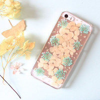Pink Pressed Real Flower Phone Case For IPhone 6S / 6/ 6 plus/ 5S / 5 / 5c/4/4s