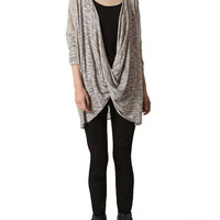 Grey Wrap Front Jumper