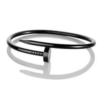 Cartier Stylish Couple Simple Diamond Fashion Nail Bracelet Black