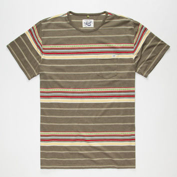 Lost Dubberoo Mens Pocket Tee Olive Combo  In Sizes