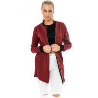 Long Zipper Jacket Windbreaker 13277