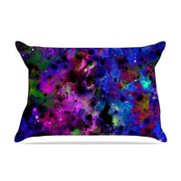 "Ebi Emporium ""Color Me Floral"" Celestial Blue Pillow Sham"