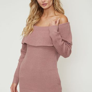 Off The Shoulder Sweater With Pockets