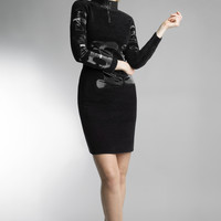 Historic New York Black Laser Vinyl Dress