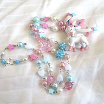 Pokémon Necklace - SYLVEON - TOMY Figure Necklace - Decora, Kawaii, Pokemon GO