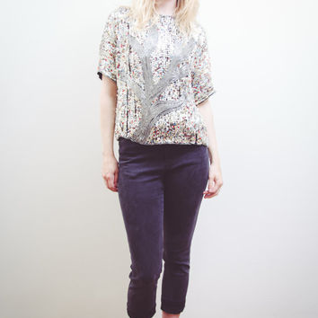 Vintage Sequins Party Top