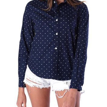Blending In Oxford Shirt - Navy