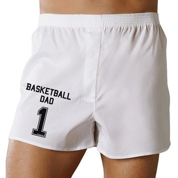 Basketball Dad Jersey Boxers Shorts by TooLoud