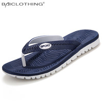Hight Quality Brand Summer Sandals 2016 Fashion Breathable Beach Slippers Soft Lightweight Flip Flops Mens Sandals Rubber Shoes