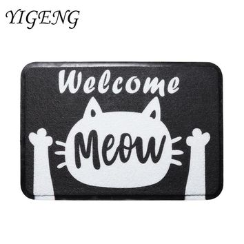 Autumn Fall welcome door mat doormat Cute Cat  Welcome  Entrance Rugs for Kitchen Floor Mat Home Decoration Antiskid Carpets Balcony Living Room Mat AT_76_7