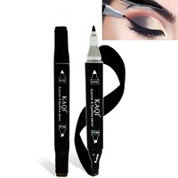 2 in 1 waterproof eyebrow pencil black brown eye brown pen liquid eyes makeup