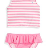 Ralph Lauren Stripe Two-Piece Swimsuit (Baby Girls) | Nordstrom