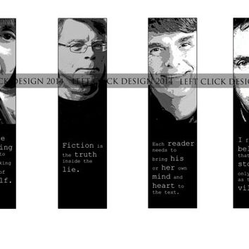 Horror Writers- Set of 4 Printable Bookmarks