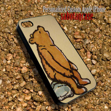 Bear Winnie The Pooh Sabotagcase - Personalized Custom iPhone 4 4S iIPhone 5 5S 5C Samsung Galaxy S3 and S4 Accessories Case - 03Jan1428