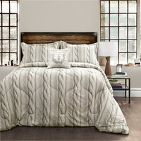 Printed Cable Knit 4 Piece Comforter Set by Lush Decor - Bedding and Bedding Sets at Hayneedle