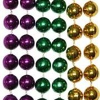 10mm 33in Purple, Green, Gold Beads