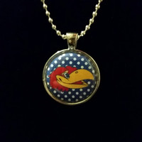 "Jayhawks 1"" Pendant Necklace"