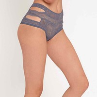 Else Serenity Cut-Out High Waist Briefs in Blue - Urban Outfitters