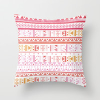 HIPPIE BANDANA Throw Pillow by Nika