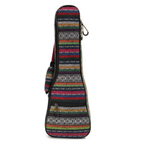 Cotton+Nylon Soft Padded Portable Guitar Gig Bag Ukulele Case Cover Backpack With Double Shoulder For 21 Inch Ukulele