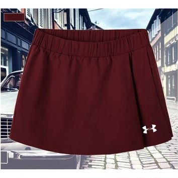Under Armour Driving Skill Running Skirt Fitness Beach Beach Beach Yoga Pants Red