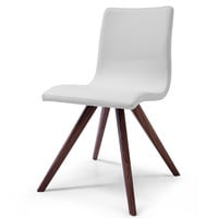 Olga Dining Chair White Eco Leather