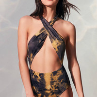 Out From Under Rachel Crossover One-Piece Swimsuit | Urban Outfitters
