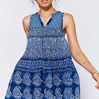 Ecote Gauze True Blue Frock Dress-