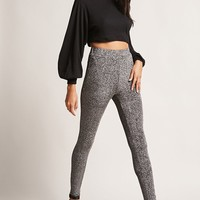 Metallic Knit Leggings