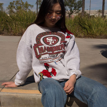 49ers 1997 Rose Patched Sweatshirt