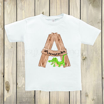 Letter A Custom Kids Shirt - Alphabet Tops For Kids