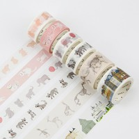 2-3cm*7m Animal Building washi tape DIY decorative scrapbook planner masking tape adhesive tape stationery school supplies