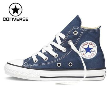 CREYUG7 Original New Arrival Converse Classic Kids' Canvas Shoes High top Sneakers - Red or Bl